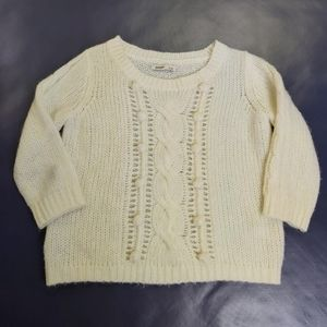 OLD NAVY Cream Bubble Cable Knit Sweater